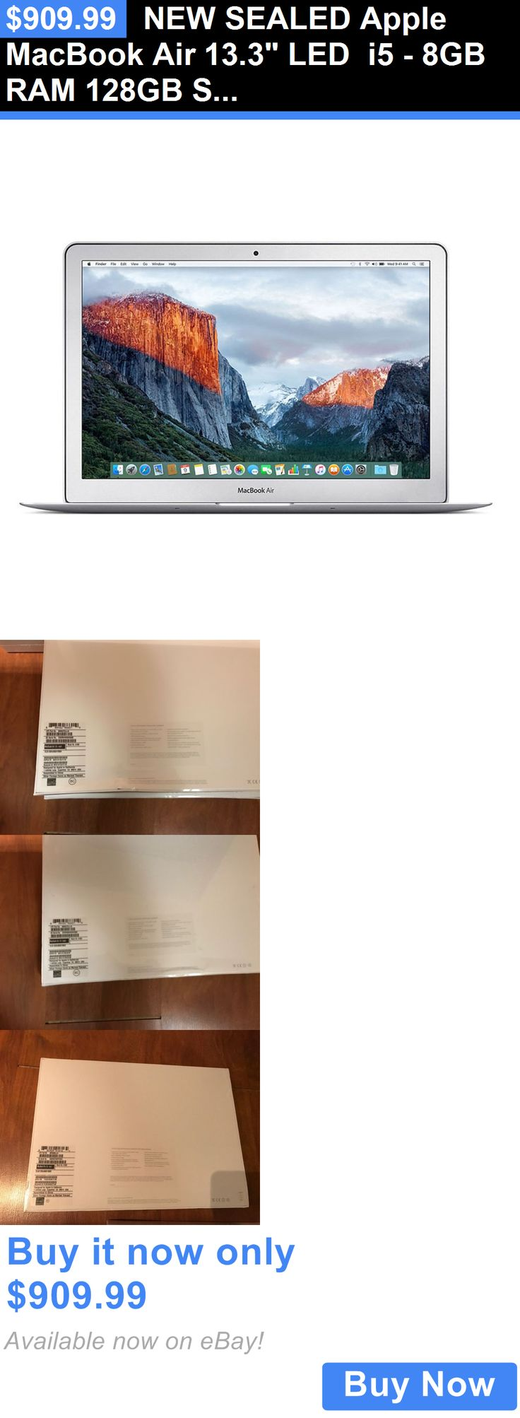 general for sale: New Sealed Apple Macbook Air 13.3 Led I5 - 8Gb Ram 128Gb Storage Mmgf2ll/A BUY IT NOW ONLY: $909.99