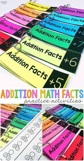 Addition Math Facts Practice Activities: These addition math fact strips are great for kindergarten and first grade students to grasp their math fact fluency! Comes with additional fact practice and number bond worksheets that could be used for timed test.