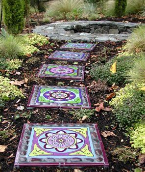 Clare Dohna Tiles Mosaic Garden