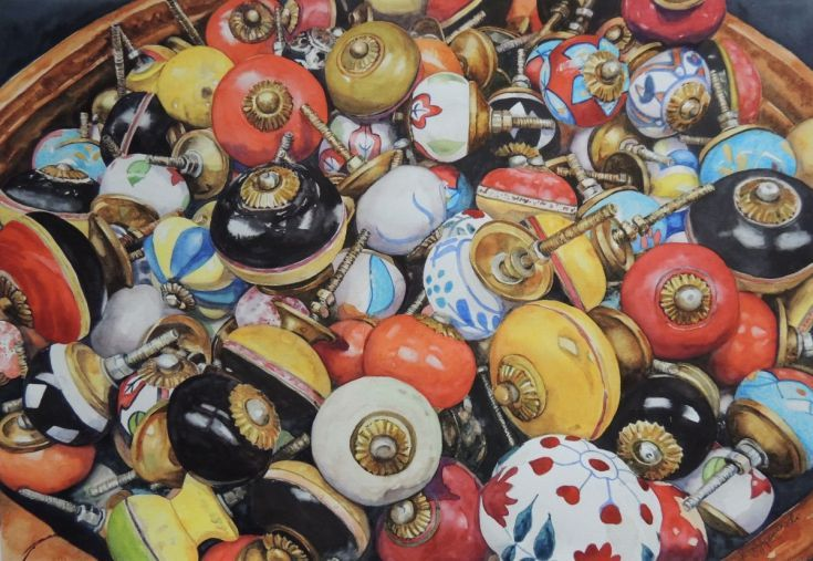 Buy Knobs, knobs, knobs..., Watercolour by Krystyna Szczepanowski on Artfinder. Discover thousands of other original paintings, prints, sculptures and photography from independent artists.