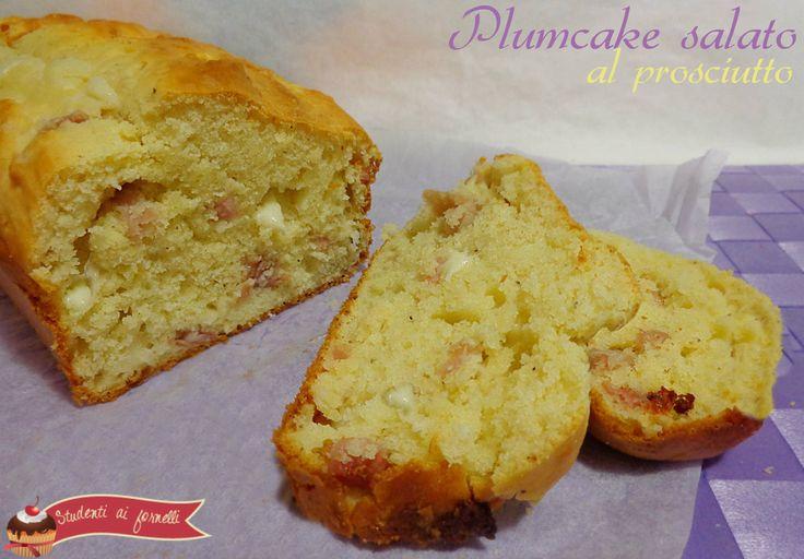 Plum Cake salato prosciutto speck e provola http://blog.giallozafferano.it/studentiaifornelli/plum-cake-prosciutto/
