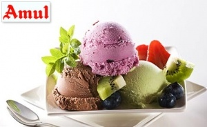 Pay Rs. 19 to enjoy buy 1 get 1 offer on Amul ice creams at Amul Scooping Parlour Ice-Mart.
