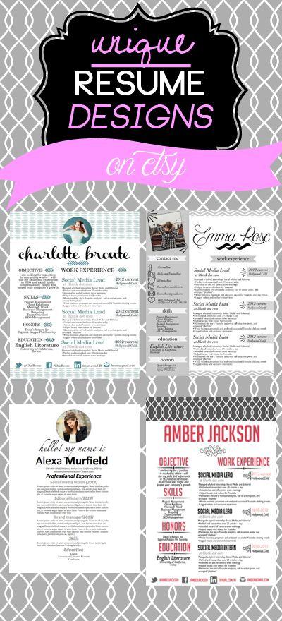 #resumes #resumedesign #resumes #etsy unique creative modern elegant resume designs on etsy!