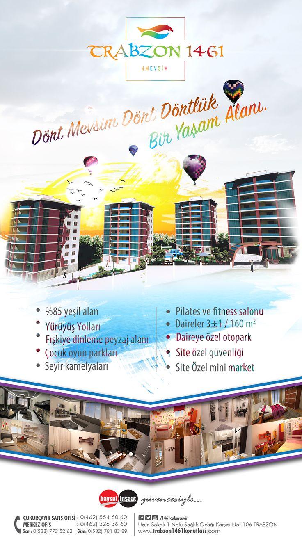Trabzon 1461 4 Mevsim Evleri Bilboard Afiş Tasarımı on Behance