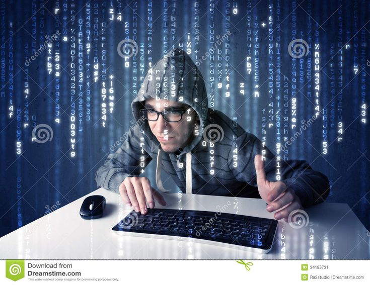 Hacker Decoding Information From Futuristic Network