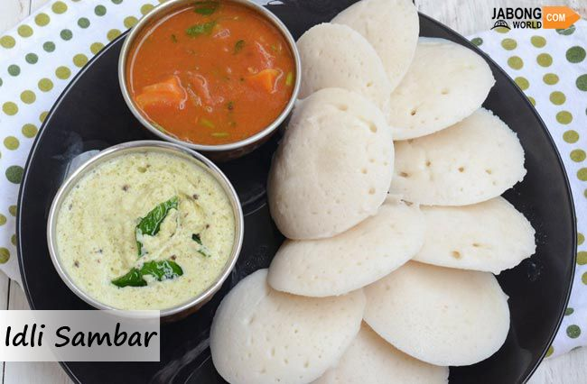 #IdliSambar is the best food in the streets of Chennai. It is most favorite south Indian dish and is common as a breakfast item. It is served with a combination of chutney and sambar. Coconut chutney adds more taste to this delicious food item.