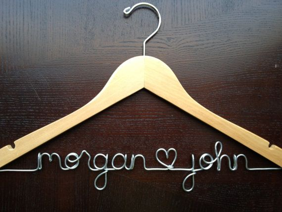 Personalized Bridal Hanger  Wedding Name by HandcraftedAffairs, $23.00