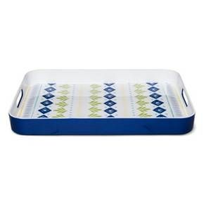 Rectangle 18.8in x 13.5in Plastic Serving Tray Blue : Target