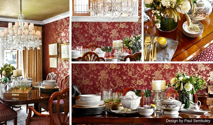 London Inspired Decor - Add some English luxury with elaborate floral prints and intricate carvings.