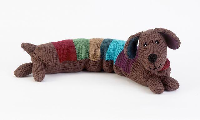 Ravelry: Stripy Sausage Dog pattern by Sue Stratford