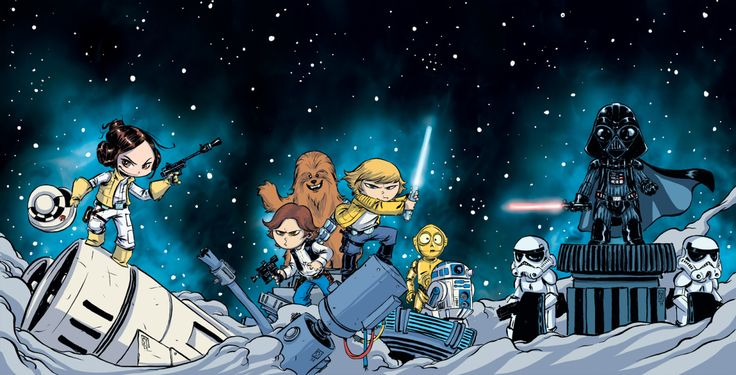 Interlocking Star Wars covers across all 3 Marvel Titles. Here's some more info from Mtvhttp://www.mtv.com/news/1965507/marvel-star-wars-skottie-young-covers/?utm=share_twitter