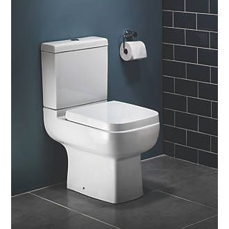 Order online at Screwfix.com. Contemporary design. Vitreous china with soft-close white seat. Replacement seats available (Code 6379F and 9100F). FREE next day delivery available, free collection in 5 minutes.