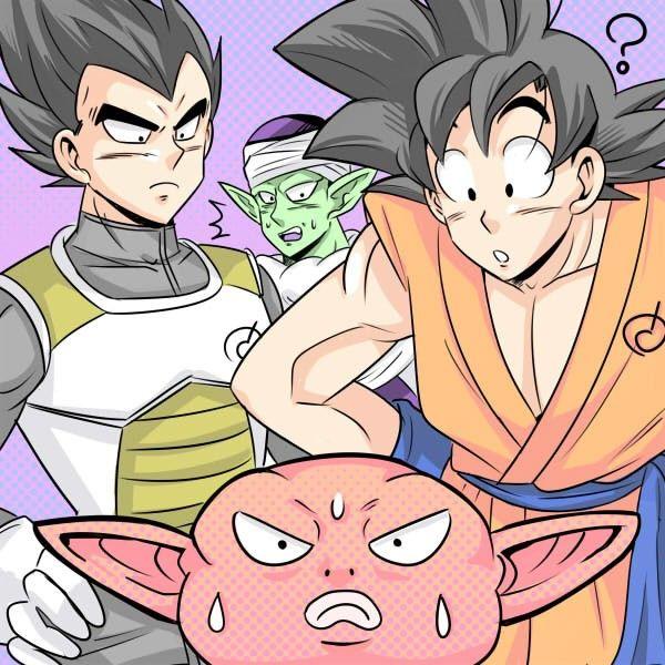 Goku, Vegeta, Piccolo y Monaka