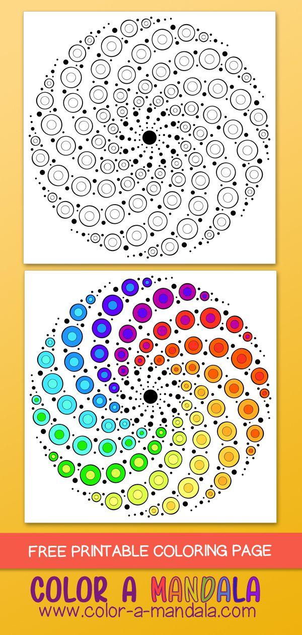 Swirly Dots Mandala M71 Mandala Art Lesson Mandala Dots Dot