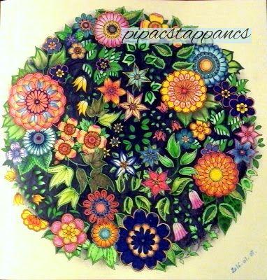 Johanna Basford Secret Garden.  My coloring galery on pipacstappancs.blogspot.hu