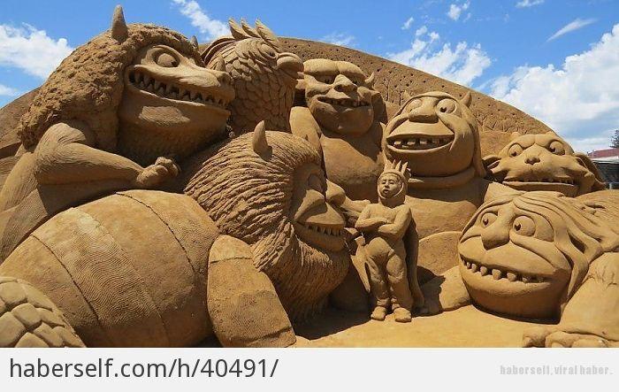 Avustralya Plajlarından Hepsi Birer Sanat Eseri 18 Kumdan Heykel - Haberself
