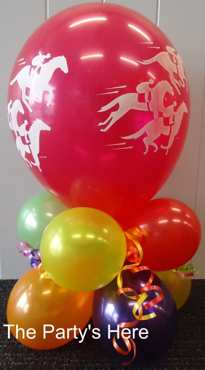 "Table Decor Arrangement with 11"" Printed Balloon. Great for simple table centrepieces without needing any helium. www.thepartyshere.com.au"
