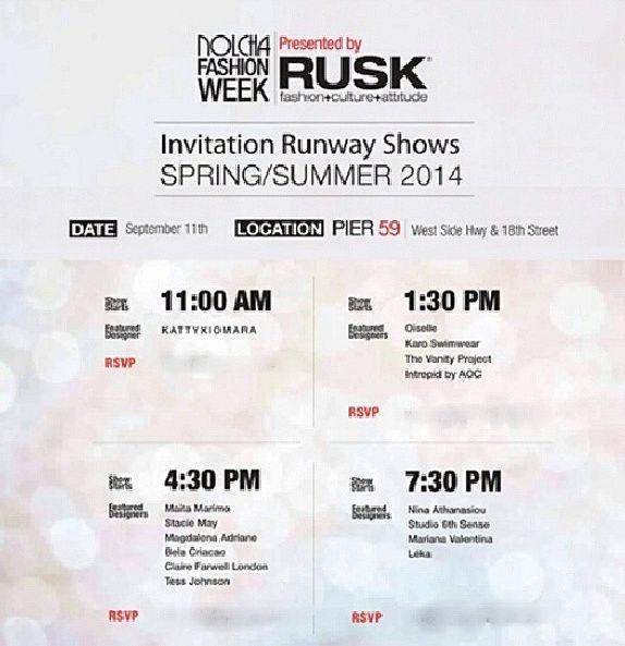 Invite KattyXiomara for #nyfw #ss14 #Nolcha #FashionWeek