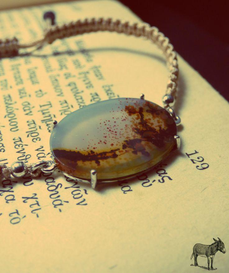""""""" Silver Dendrite Bracelet """" - Χειροποίητο βραχιόλι από ασήμι 925 και Δενδρίτη!"""
