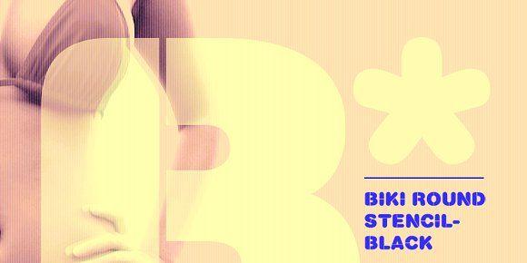 Biki Round Stencil - Black by _//_//\/\_//_//\/\ on @creativemarket