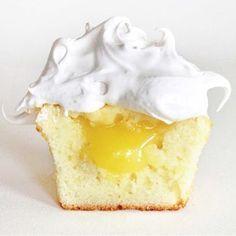 Lemon Chiffon Cupcakes with Lemon filling