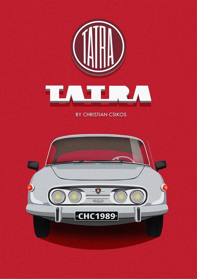 Tatra 603 by Christian Csikos  #beautiful #graphicdesign #photoshop #illustrator #vector #graphic #Tatra #Veteran