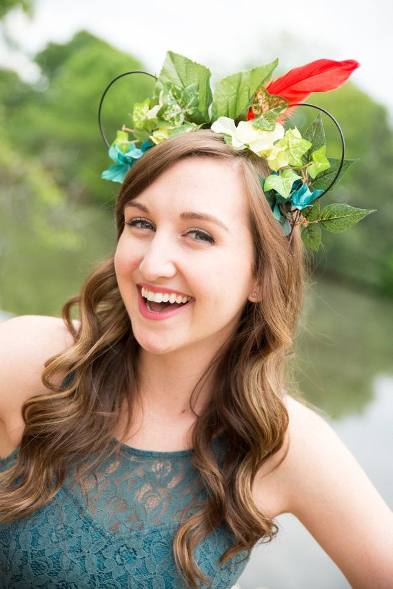 Caleigh's Crowns  Peter Pan Inspired Mouse Ears by CaleighsCrowns