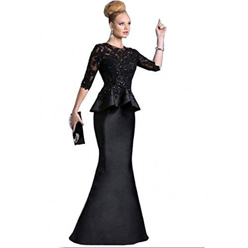 New Trending Formal Dresses: Chady Black Satin Half long Sleeves Appliques Lace Beaded Peplum Mother of the Bride Dresses 2017 Prom dresses Party Gowns. Chady Black Satin Half long Sleeves Appliques Lace Beaded Peplum Mother of the Bride Dresses 2017 Prom dresses Party Gowns  Special Offer: $119.99  155 Reviews Return policy: Notice:We could not accept your return request if the dress issues are caused by yourself.Such as wrong size...