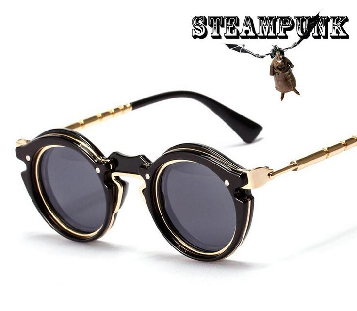 Retro Steampunk Designer Sunglasses