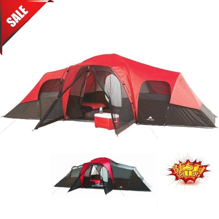 Camping Tent Family 10 Person Outdoor Hiking Cabin Dome Shelter Large 3 Rooms #Unbranded #Cabin