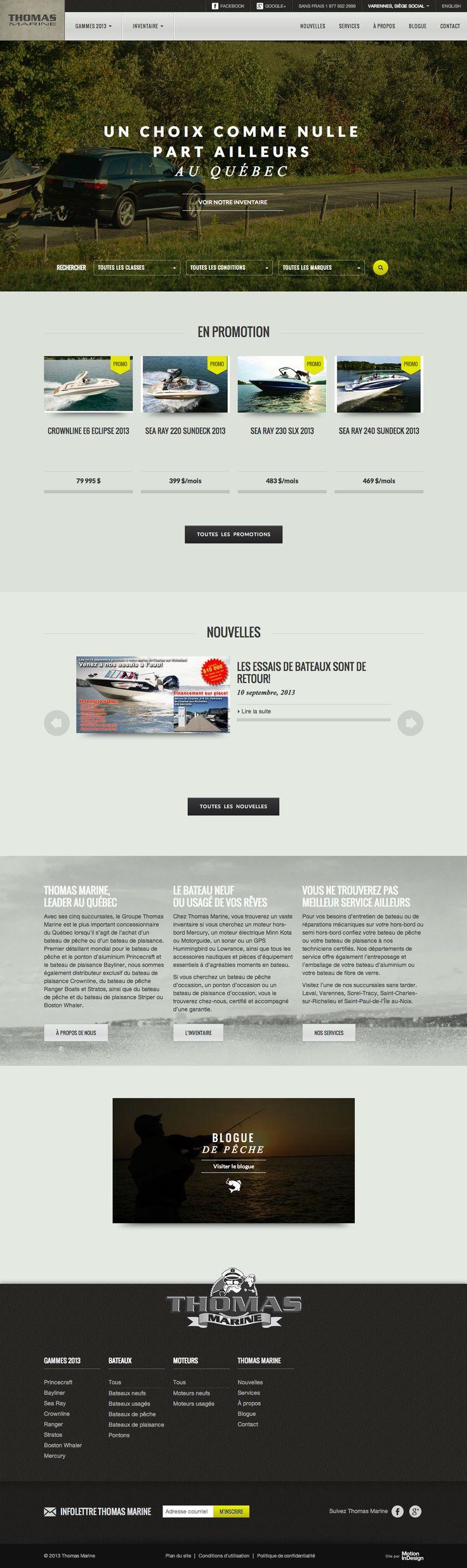 Groupe Thomas Marine   Bateaux à vendre neufs et usagés  cinq succursales à votre service