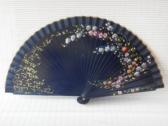chinese fans hand painted fan china silk folding Fan by Bloobling, $19.00