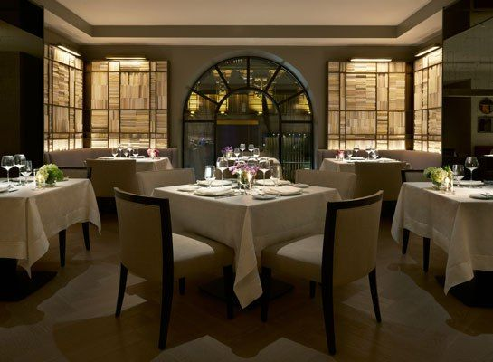 sophisticated restaurant clement opens in new yorks peninsula hotel - Beaded Inset Restaurant Interior