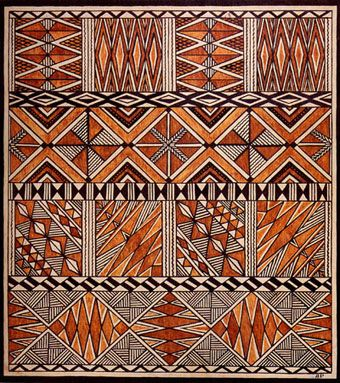 Siapo Barkcloth Image with different types of design in