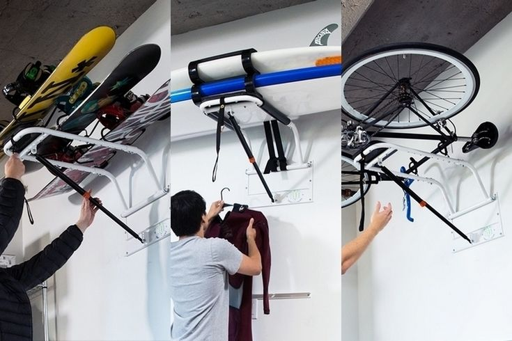 Zero Gravity Rack Stores Your Gear Overhead While Letting You Retrieve Them Easily