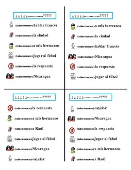 1000+ images about Spanish Unit: Saber and Conocer on Pinterest ...