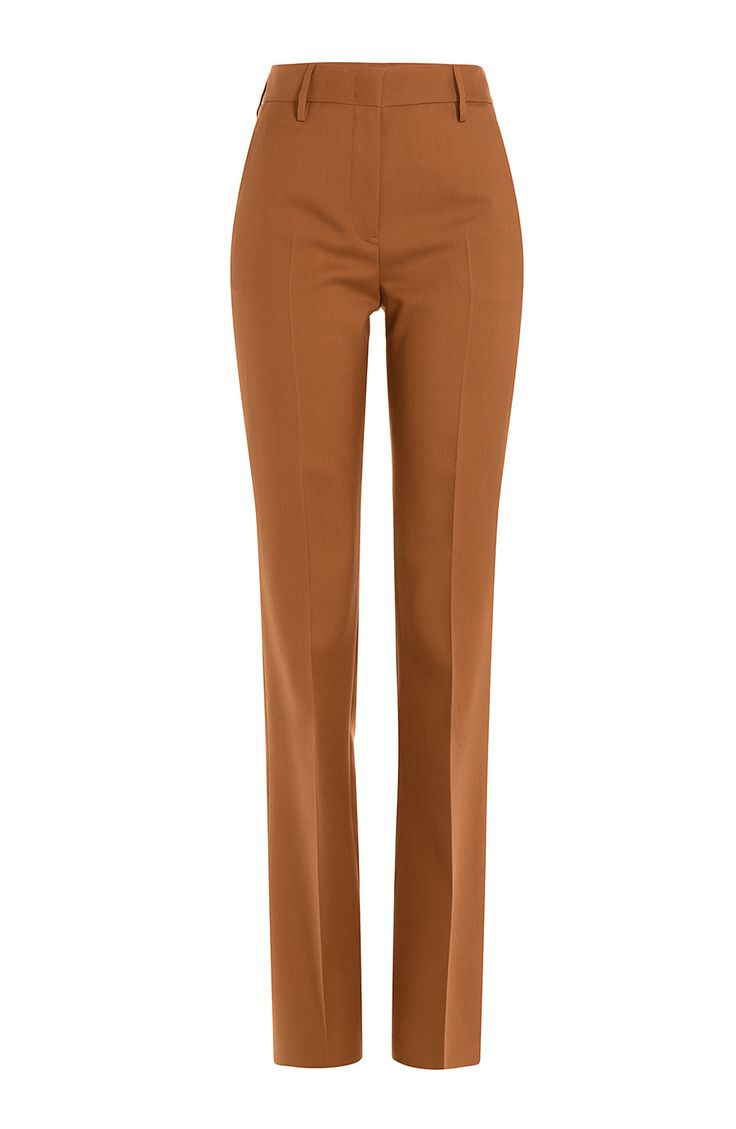 JIL SANDER High-Waist Cotton Trousers. #jilsander #cloth #pants