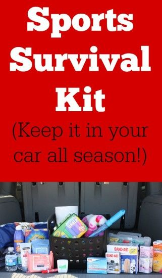 What to include and how to create a sports survival kit- everything you need to keep in the car for your kids during sports season.