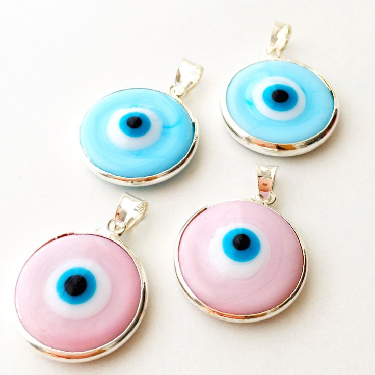 BEST SELLING GLASS EVIL EYE BEADS Now available in BABY BLUE & BABY PINK Colors