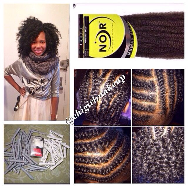 Crochet Braids On One Side : braid pattern. For her pattern, we parted her hair and braid one side ...