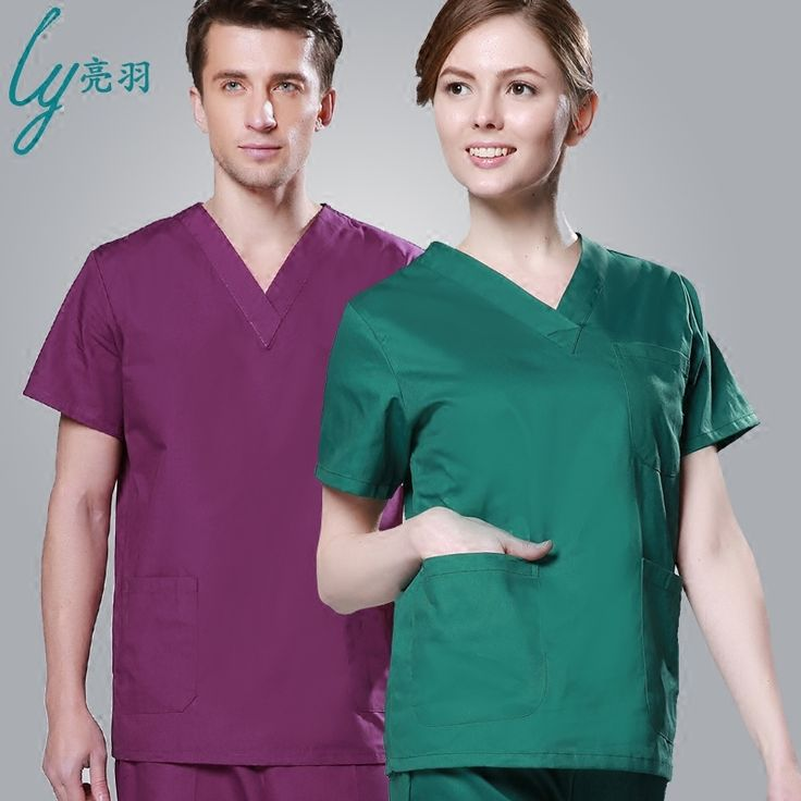 Brands LY Emergency Room Clothing Cotton Medical Shirts scrub sets female &male scrubs medical uniform medical clothing
