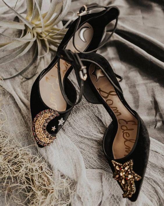 27 Schicke Schwarze Hochzeit Schuhe Und Stiefel Ideen | Boho