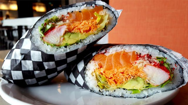 Is it Sushi? Is it a burrito? This innovative creation combines two Toronto favourites into one glorious whole! Expect to see this popping up across the city.