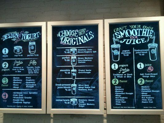 Amazing LED displays that look like chalk boards