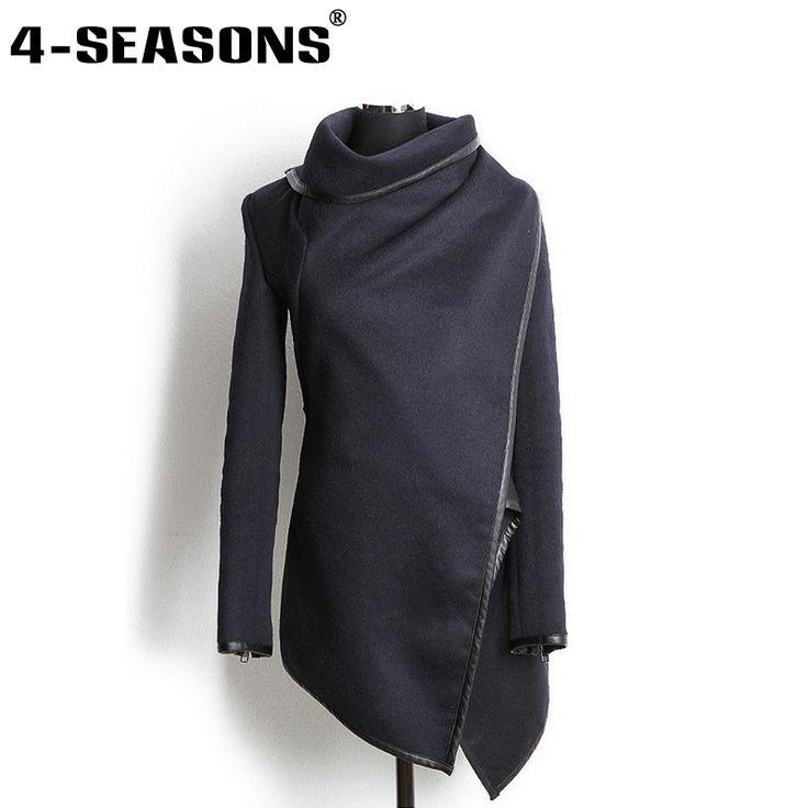 2015 Winter Coat Women Long Cashmere Overcoats Desigual Down Jackets Wool Coats Fur Manteau Abrigos Mujer