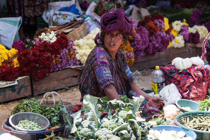 Markets in Guatemala, a must go when visiting this Central American country.