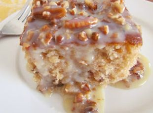 Southern Pecan Praline Cake with Butter Sauce Recipe