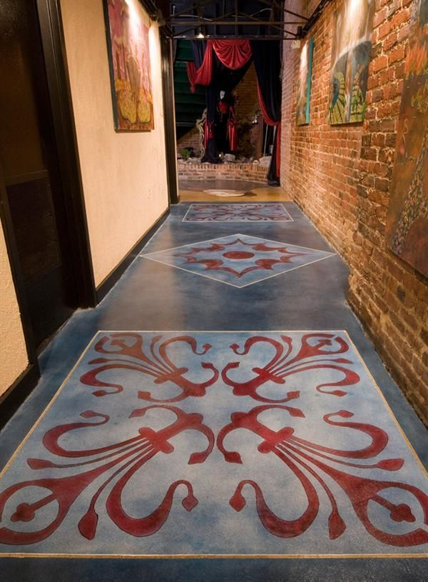 34 Best Painted Concrete Floor Stencils Custom Designs