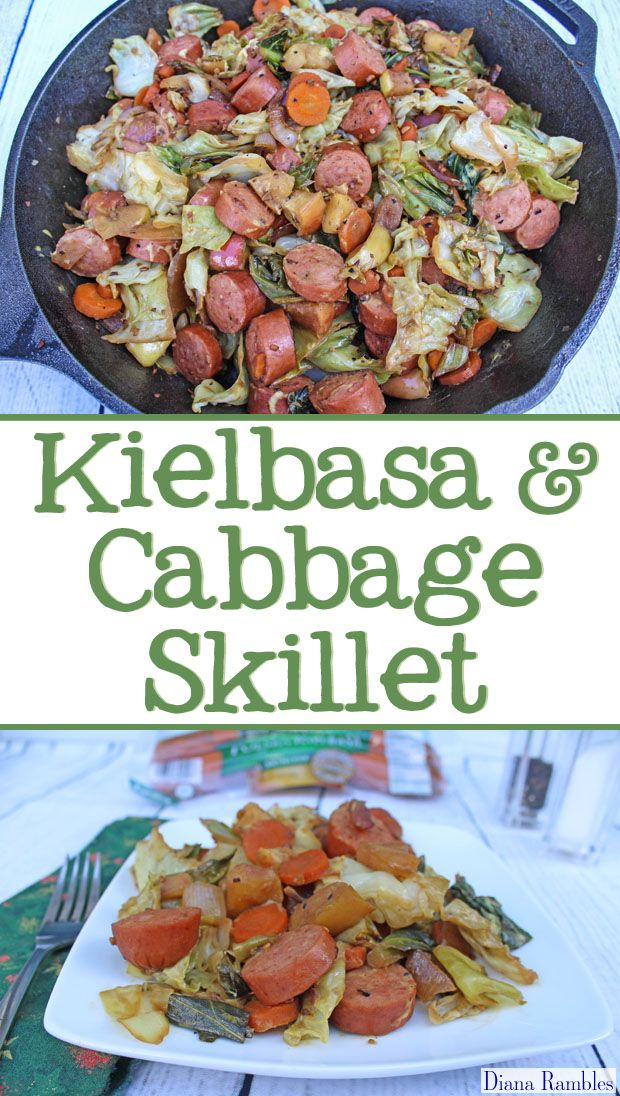 Kielbasa & Cabbage Skillet Recipe Made on the Grill - Looking for a recipe that won't heat up the house during the summer? Try this easy Kielbasa Cabbage Skillet Recipe that is made on the grill in a cast iron skillet. This hearty one-pot meal is complete and tasty! #GiveLifeMoreFlavor [ad]