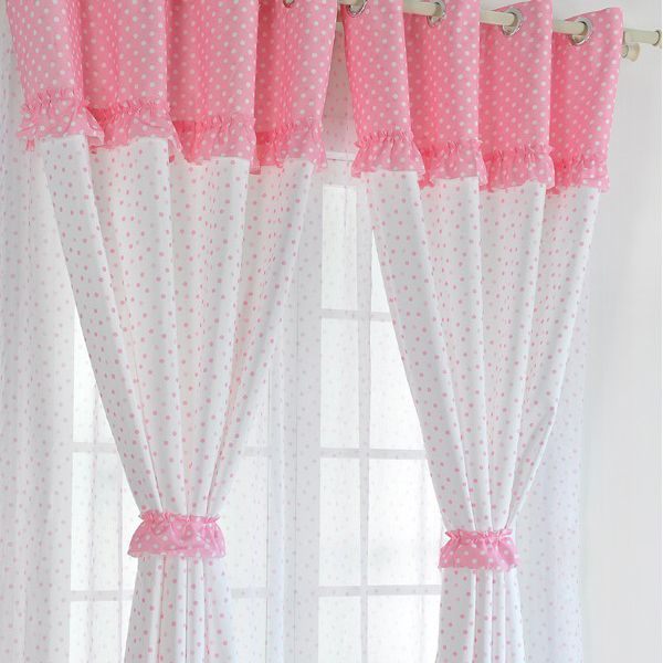 cortinas para bebs para decorar las white and pink cotton poly and linen curtains for girls two panels buy